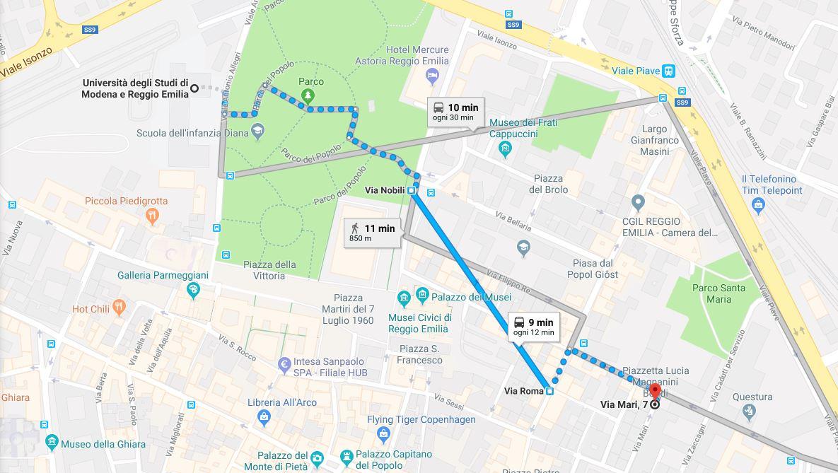 Mappa Studentato Manodori